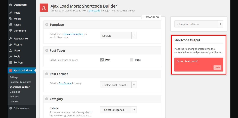 WordPress load more button